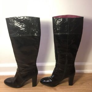 Coach Black Patent Leather Rowan Boot